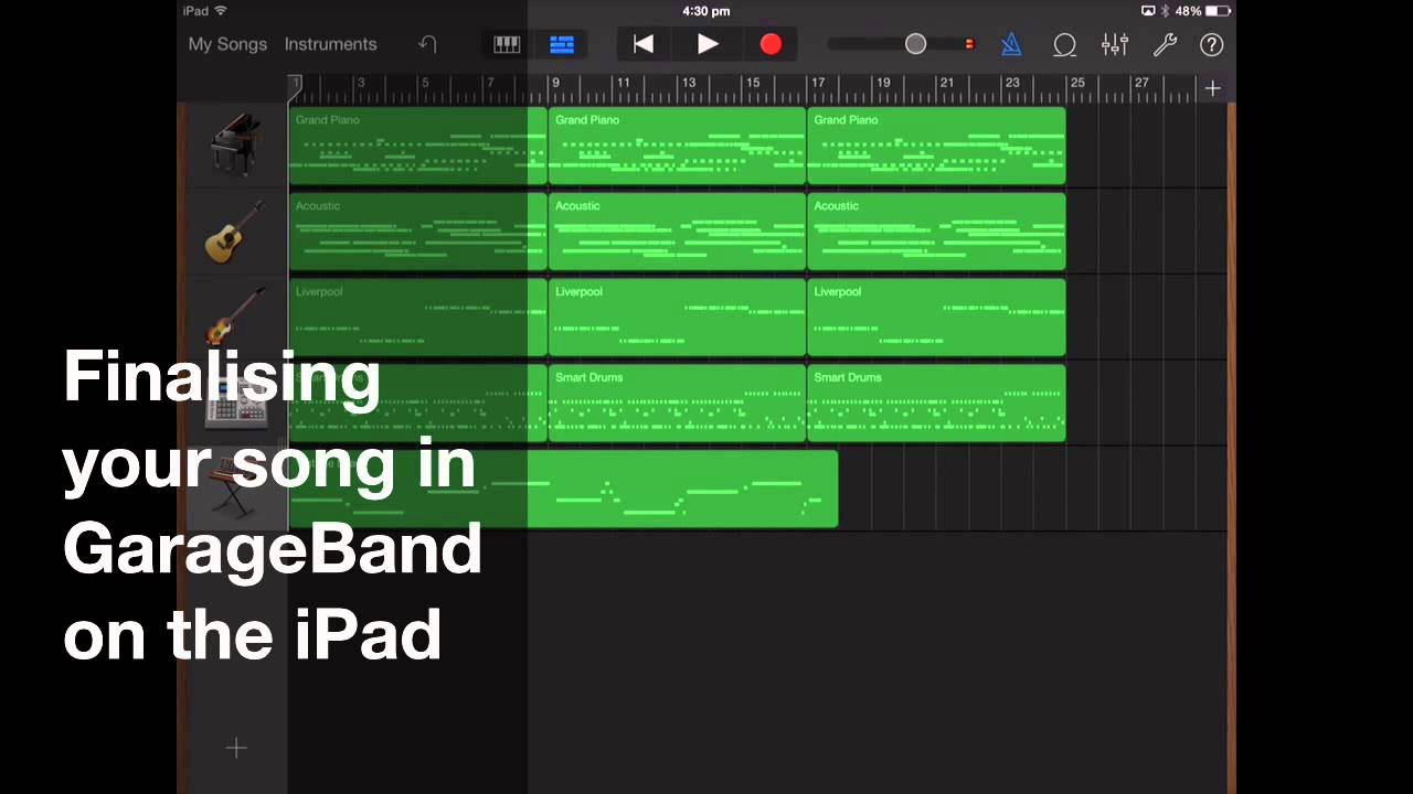 garageband ipad tutorial 2016