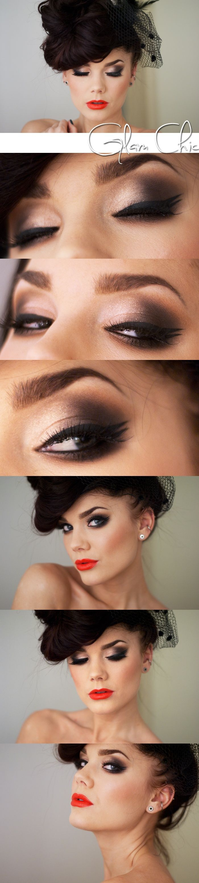 glam smokey eye tutorial