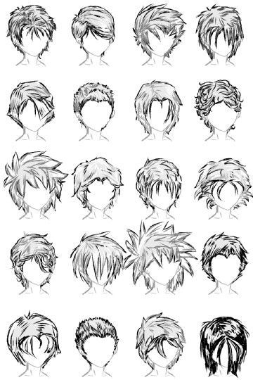 anime male hairstyles tutorial