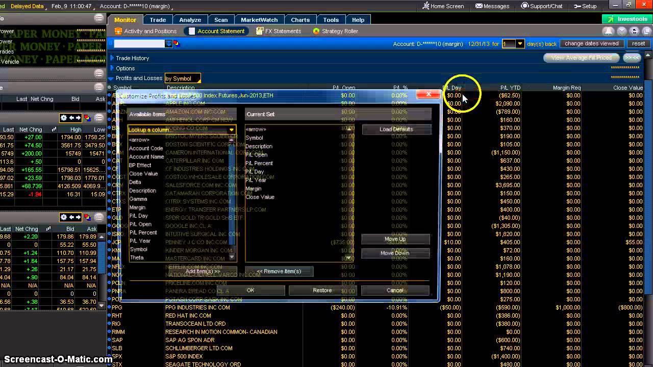 Net liquidating value td ameritrade