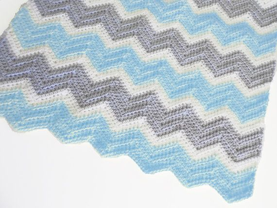 crochet chevron baby blanket tutorial