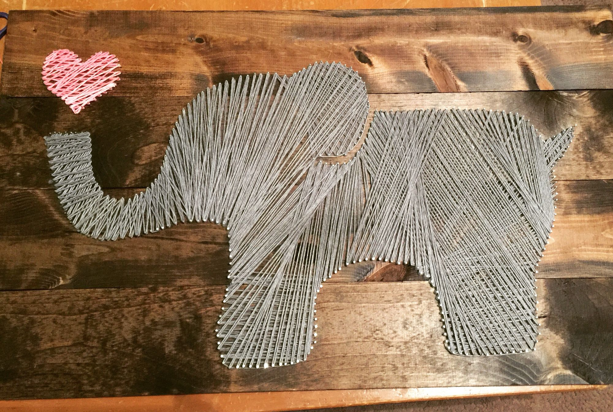 elephant string art tutorial