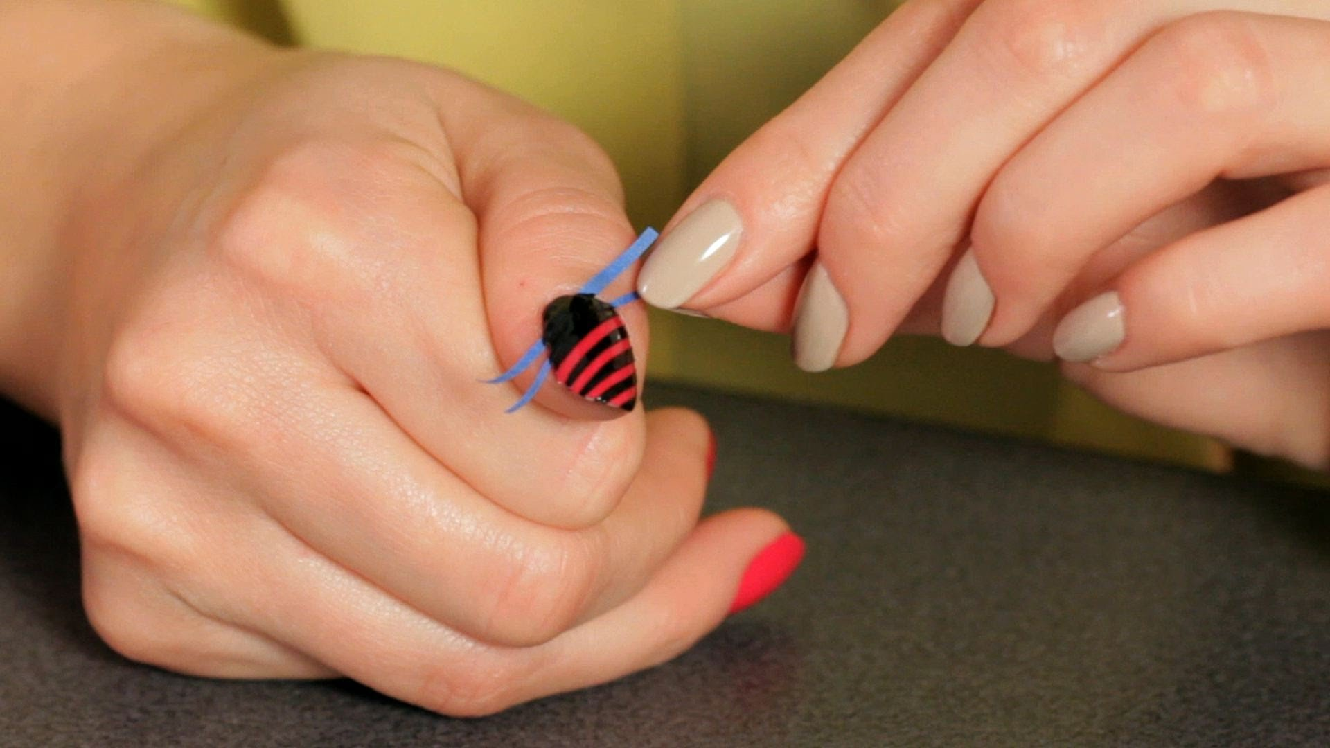 acrylic paint nail art tutorial for beginners