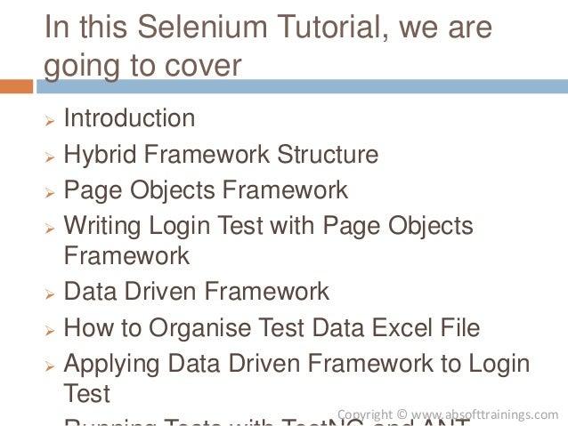 selenium webdriver fitnesse tutorial