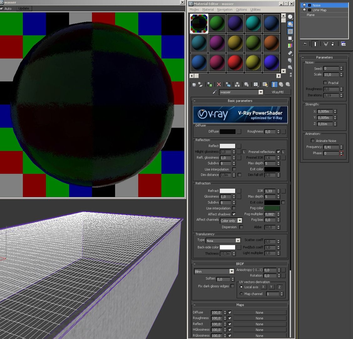 3ds max vray water material tutorial