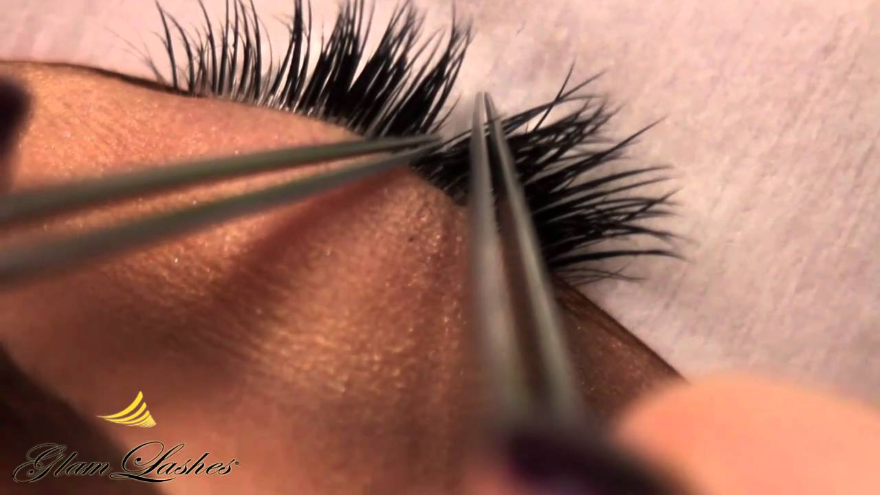 eyelash extension tutorial video