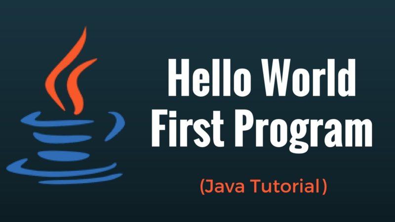 java programming tutorial online