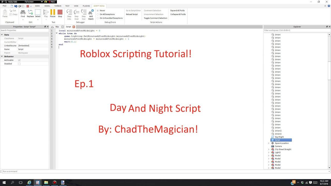 roblox scripting tutorial 2016