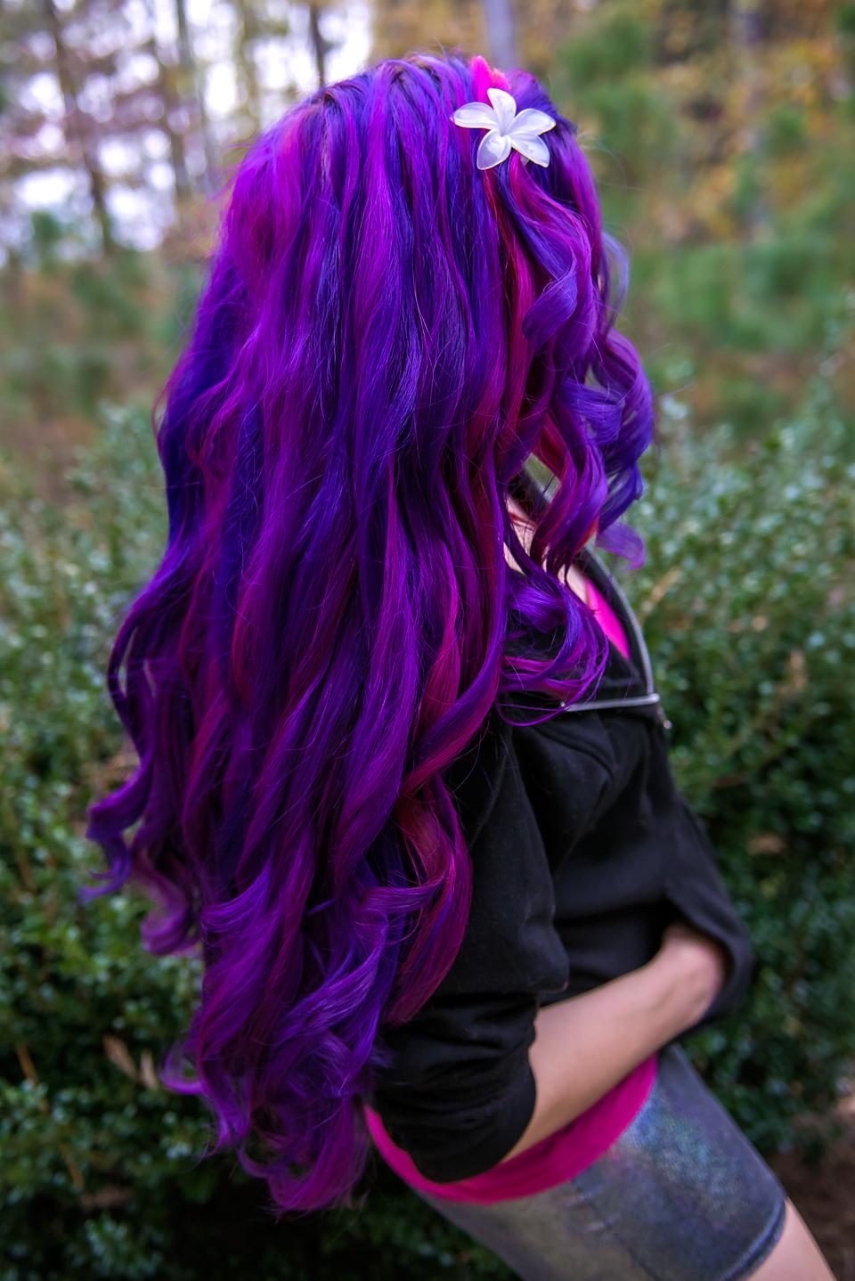 rainbow hair dye tutorial