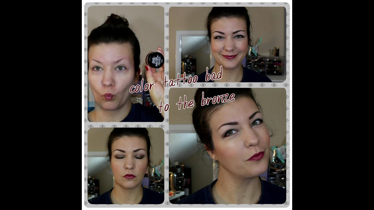 maybelline color tattoo bad to the bronze tutorial