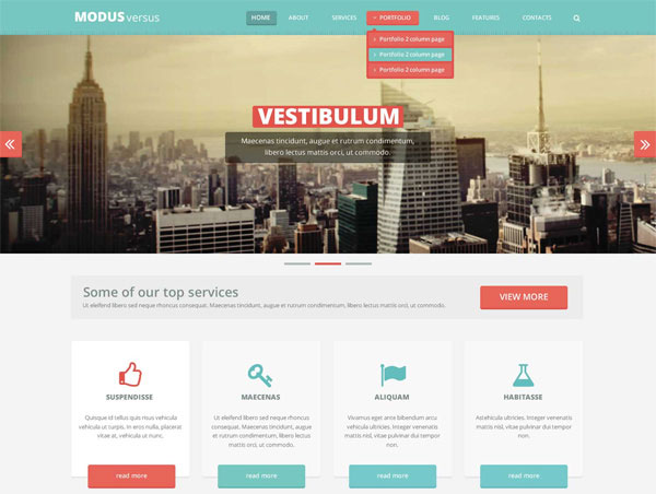 tutorial website template free download