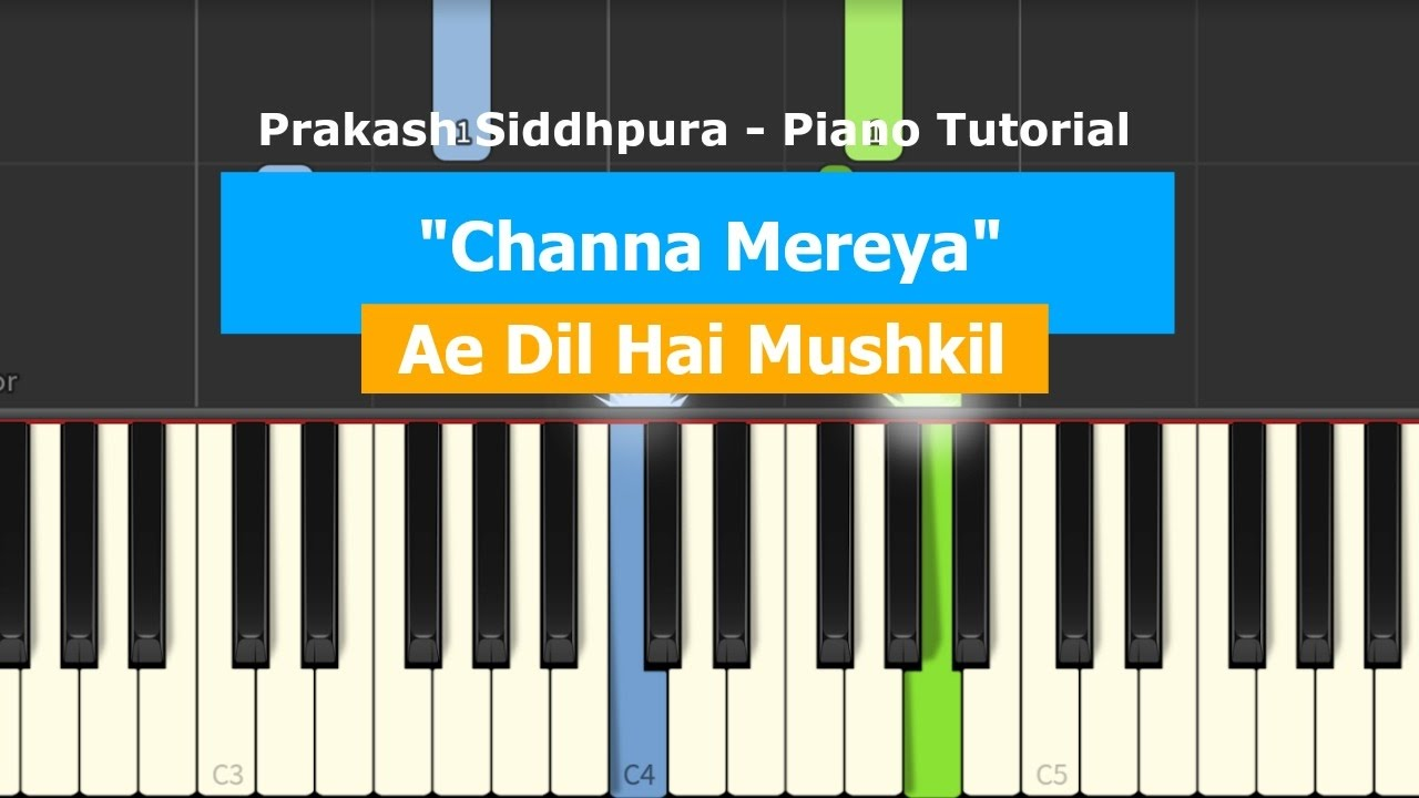 dil to pagal hai piano tutorial
