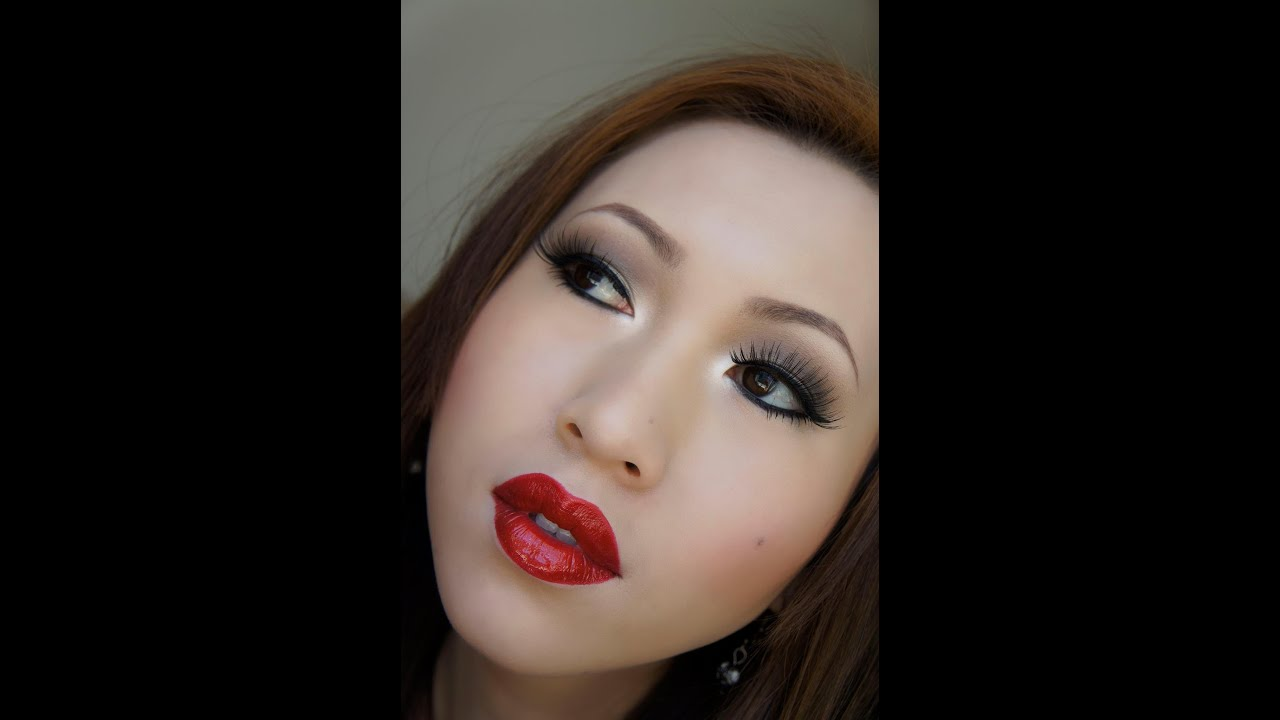 smokey eyes and red lips tutorial