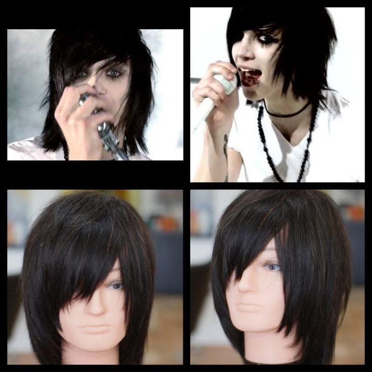 short emo hair tutorial