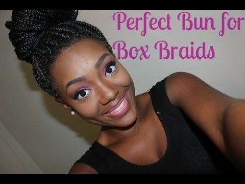 box braid bun tutorial