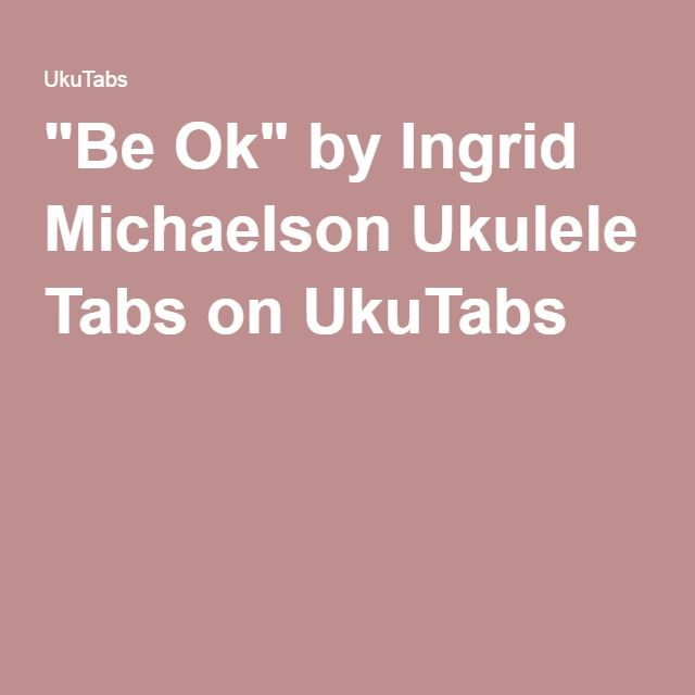 you and i ingrid michaelson ukulele tutorial
