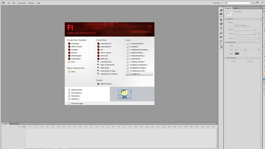 adobe flash website design tutorial