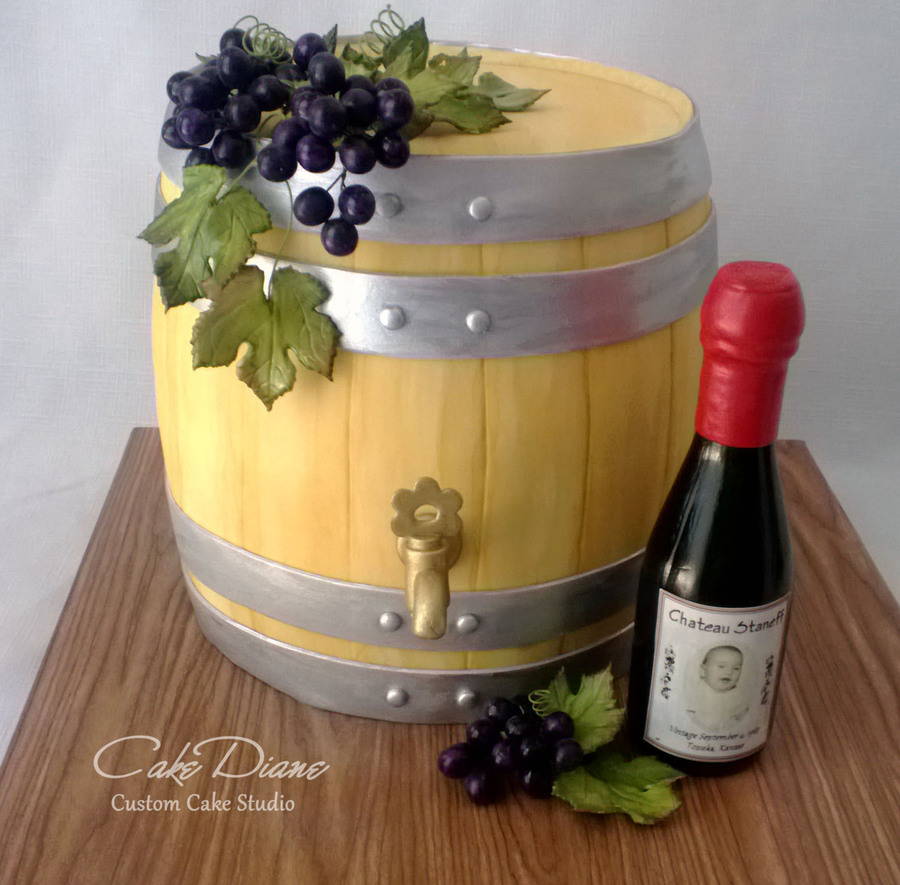 wine bottle cake tutorial