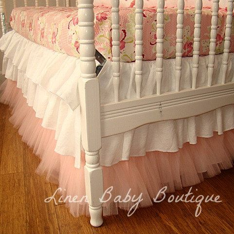 layered ruffle crib skirt tutorial