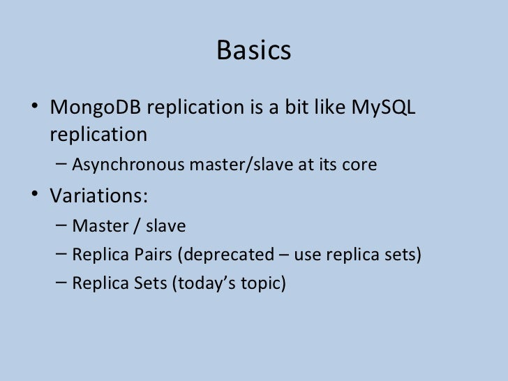 mongodb replica set tutorial