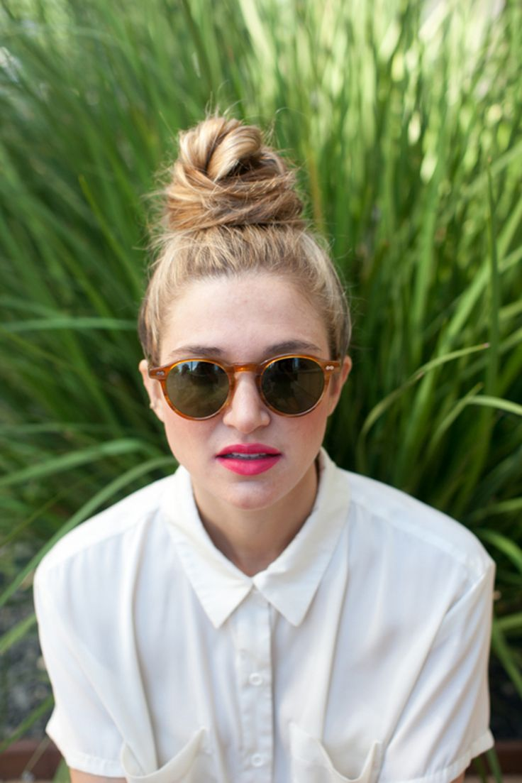 top knot bun natural hair tutorial