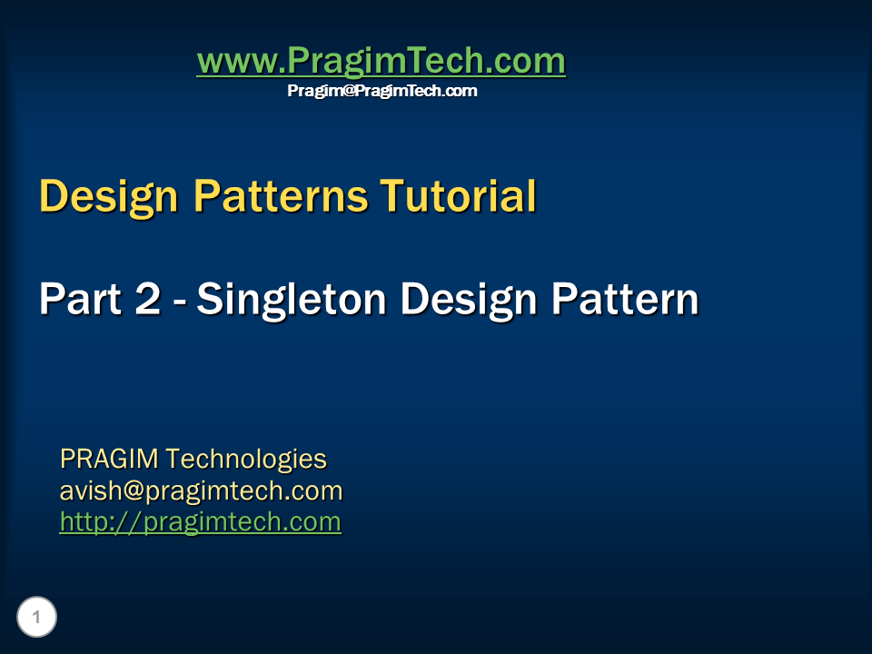 design patterns c# tutorial