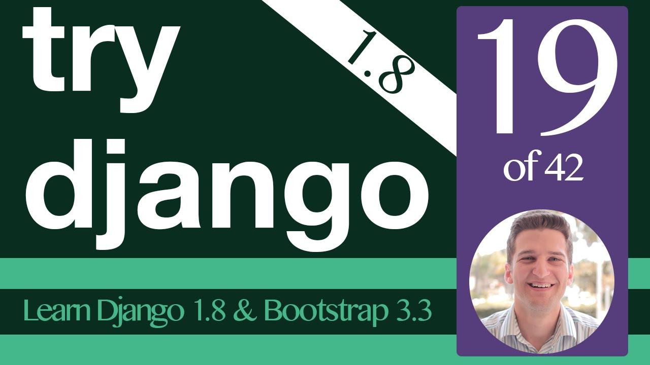 django bootstrap 4 tutorial