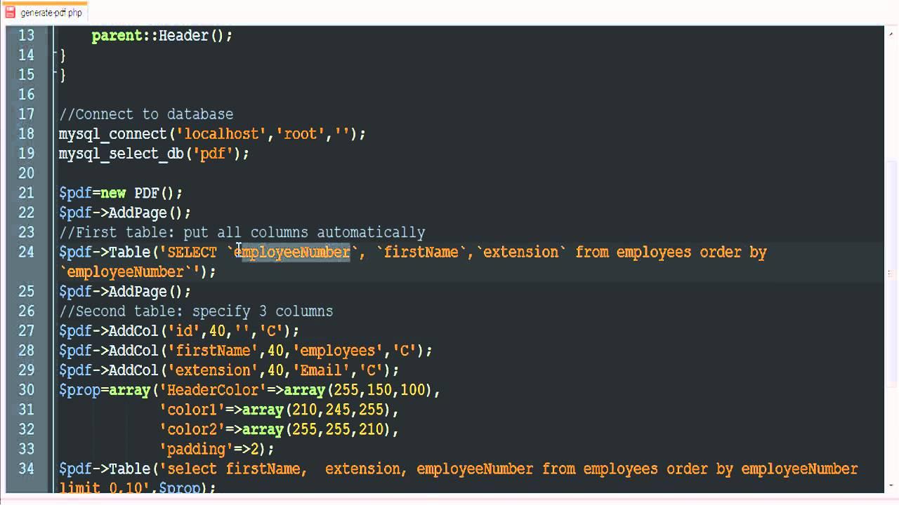 php and mysql tutorial pdf