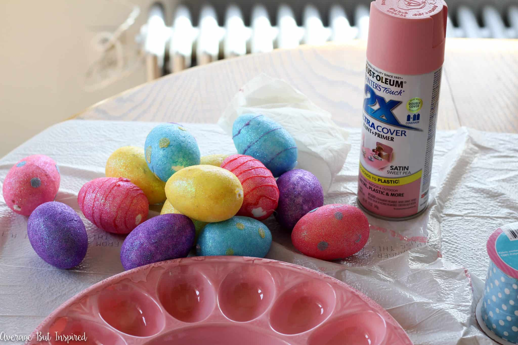 plastic easter egg wreath tutorial