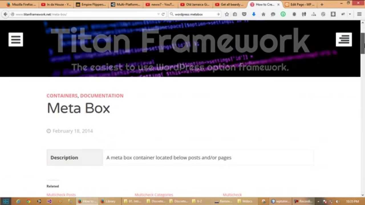meta box wordpress tutorial