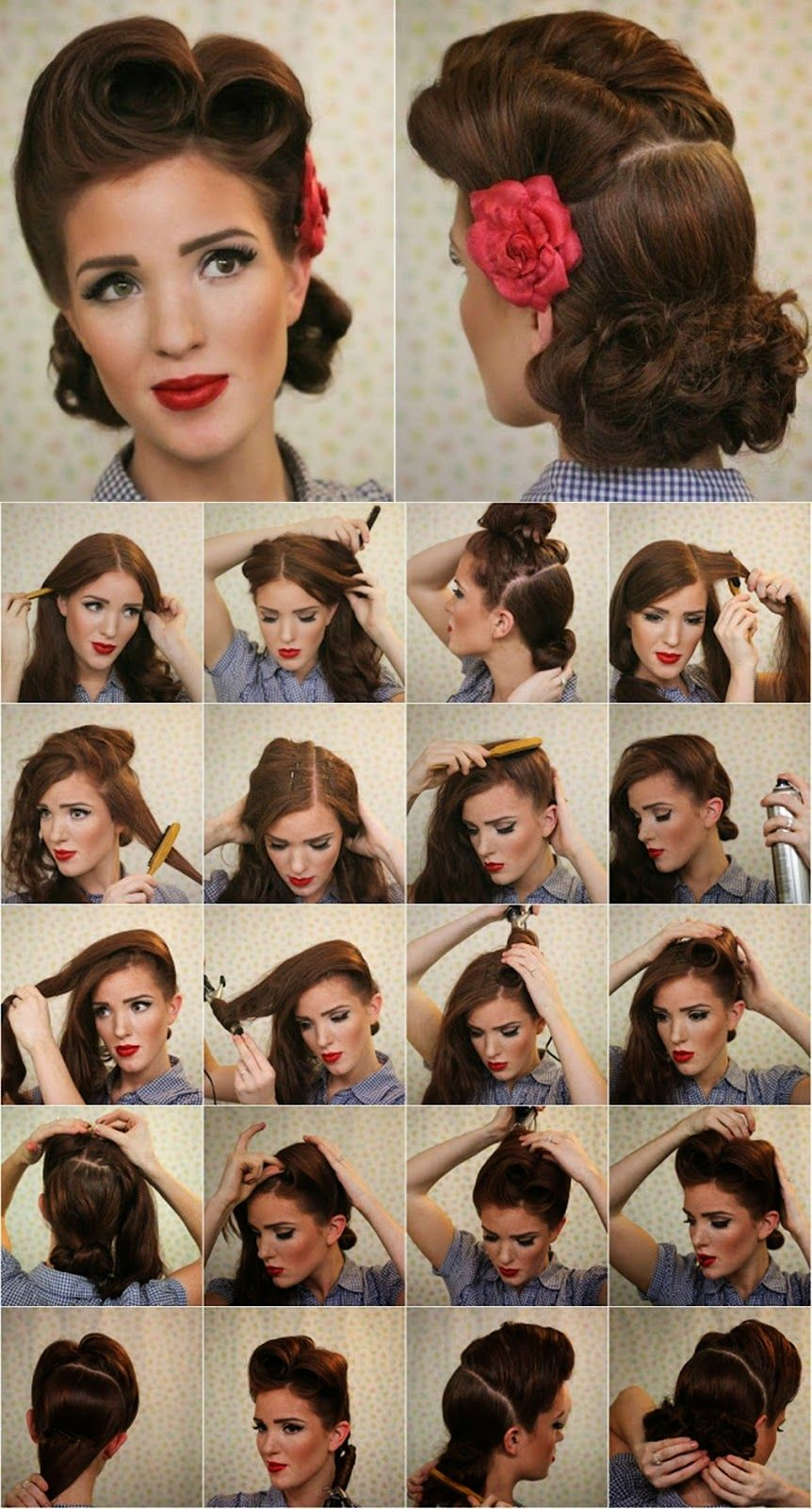 1940s hairstyles for long hair tutorial