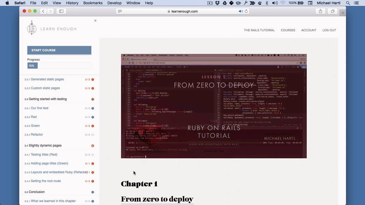 learn ruby on rails tutorial