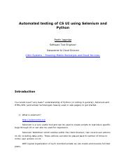 selenium automation tutorial pdf
