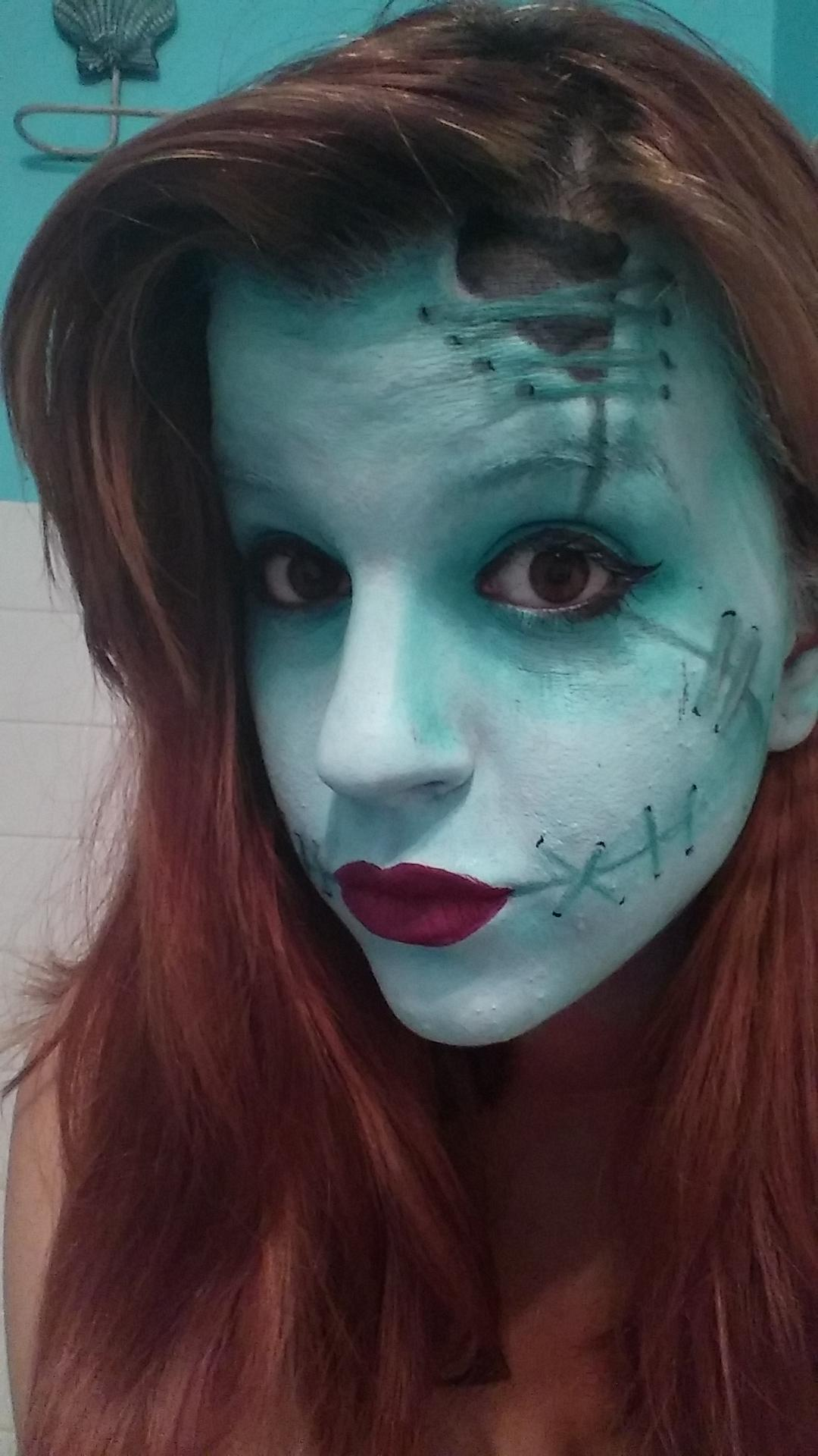 sally nightmare before christmas makeup tutorial