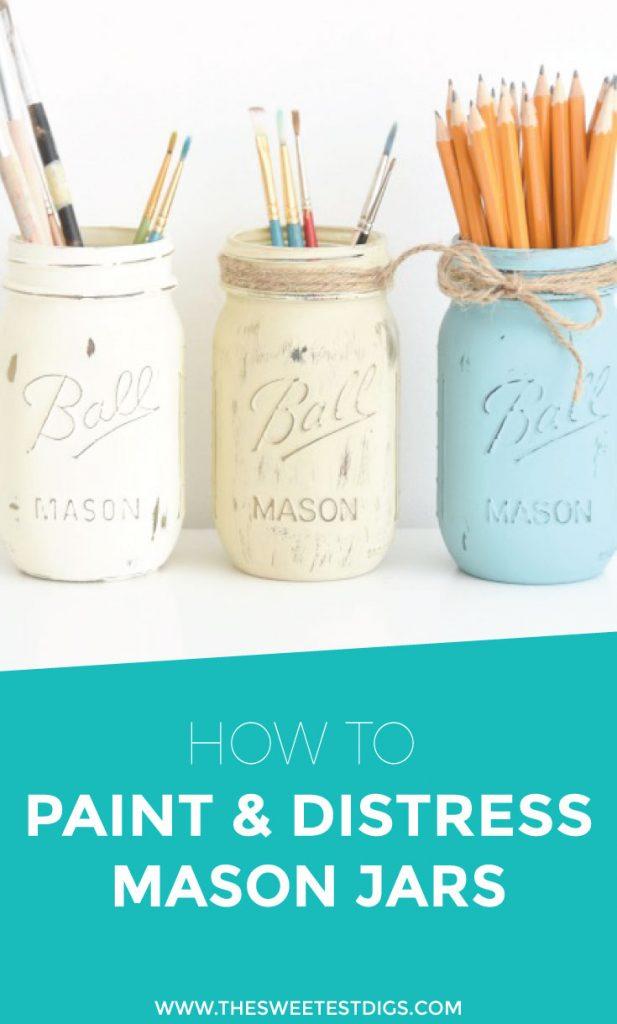 mason jar toothbrush holder tutorial