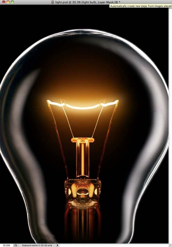light bulb photoshop tutorial