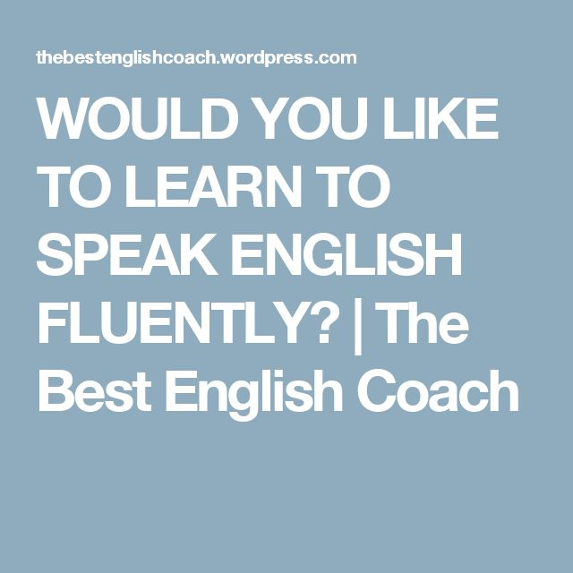 speak english fluently tutorial