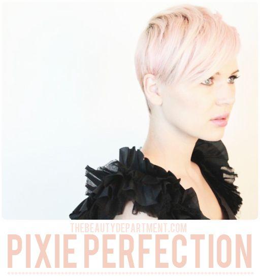 pixie cut short hair tutorial