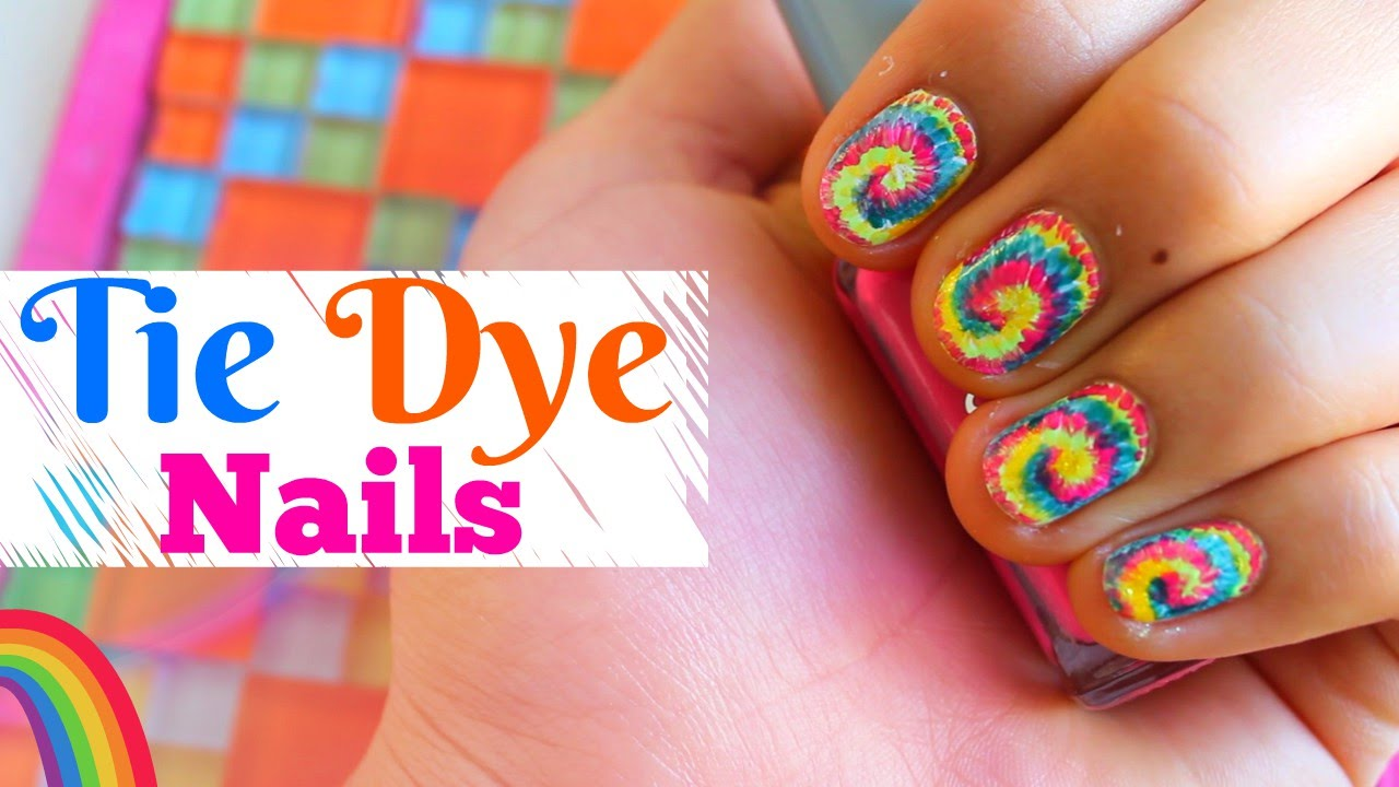 tie dye nail art tutorial