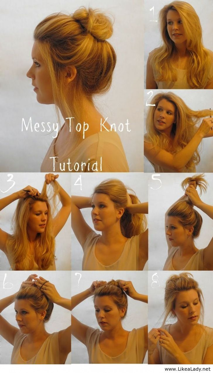 messy hair bun tutorial