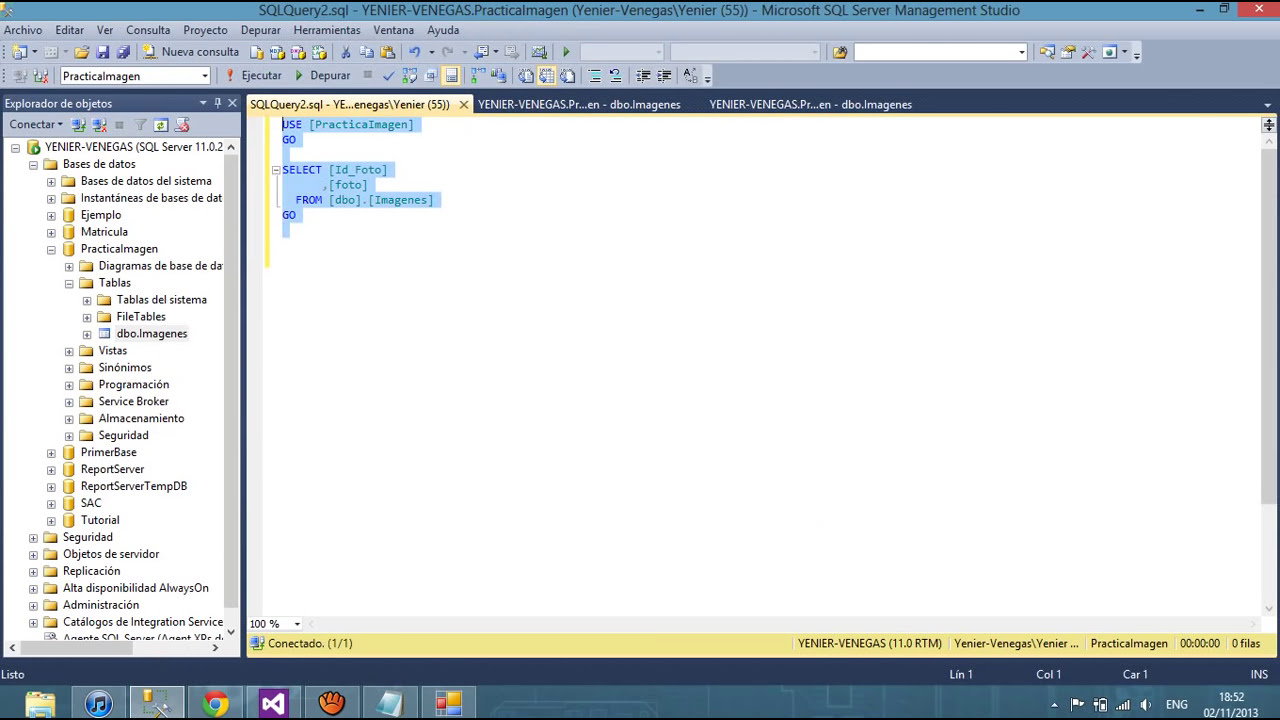 visual studio sql server tutorial