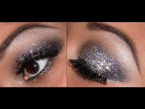 black glitter eyeshadow tutorial