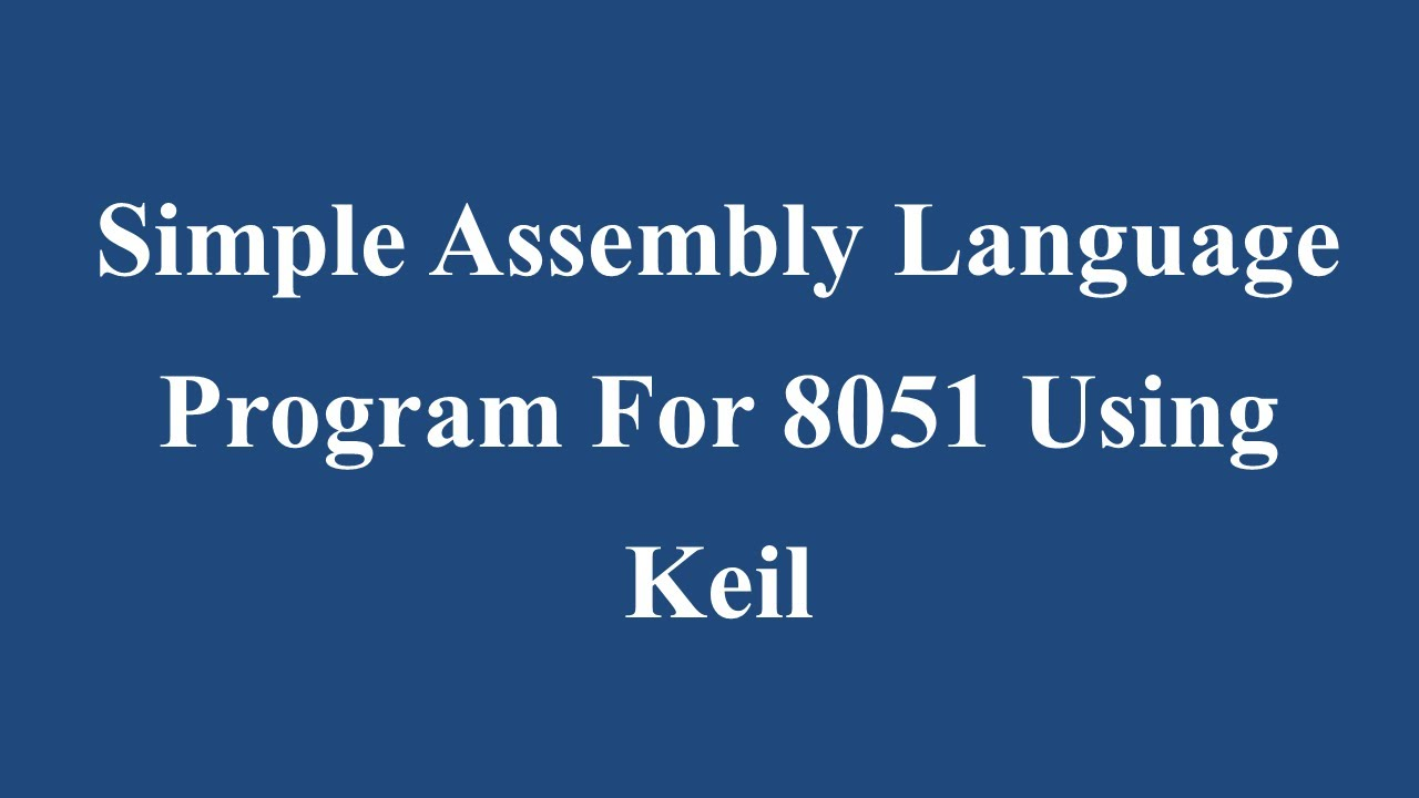 assembly language programming tutorial pdf