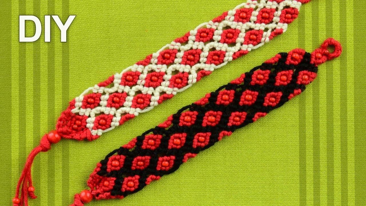 friendship bracelet with beads tutorial