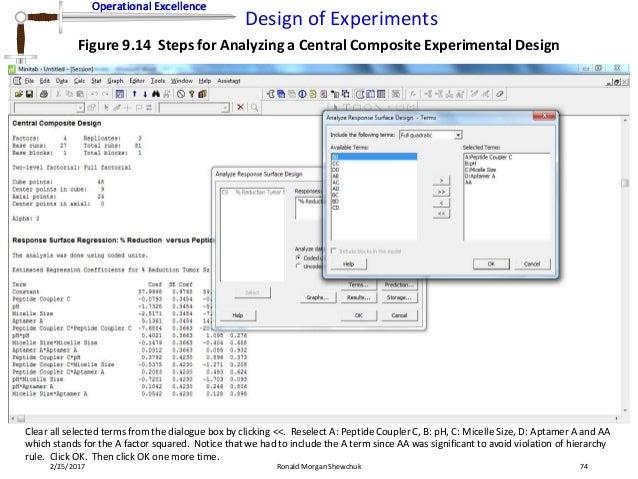 design expert central composite design tutorial