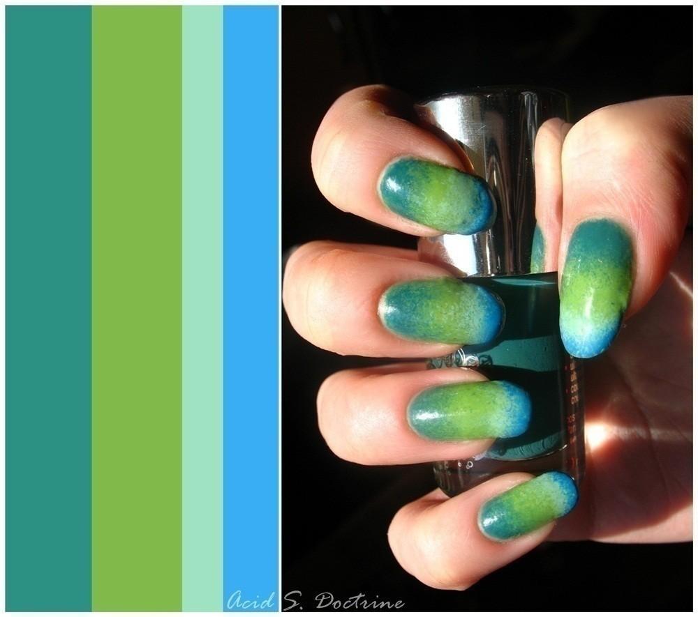 gradient nails tutorial without sponge