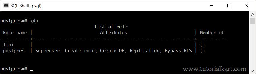 postgresql command line tutorial