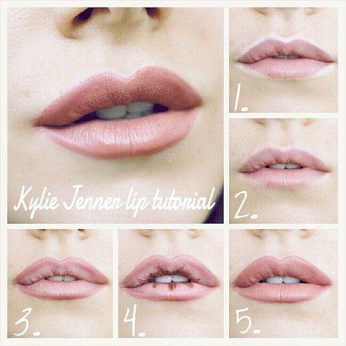 kylie lip liner tutorial