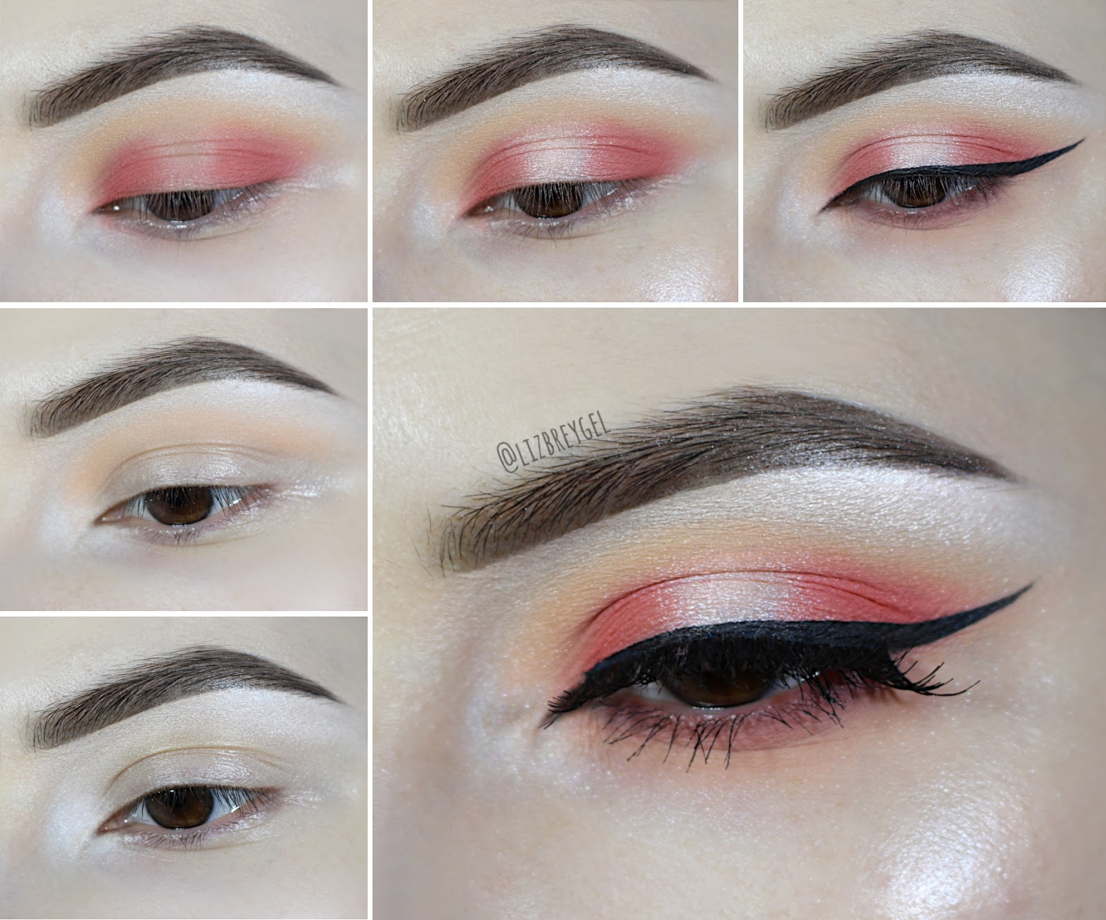 orange eye makeup tutorial