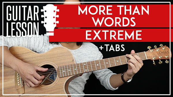 more than words chords tutorial